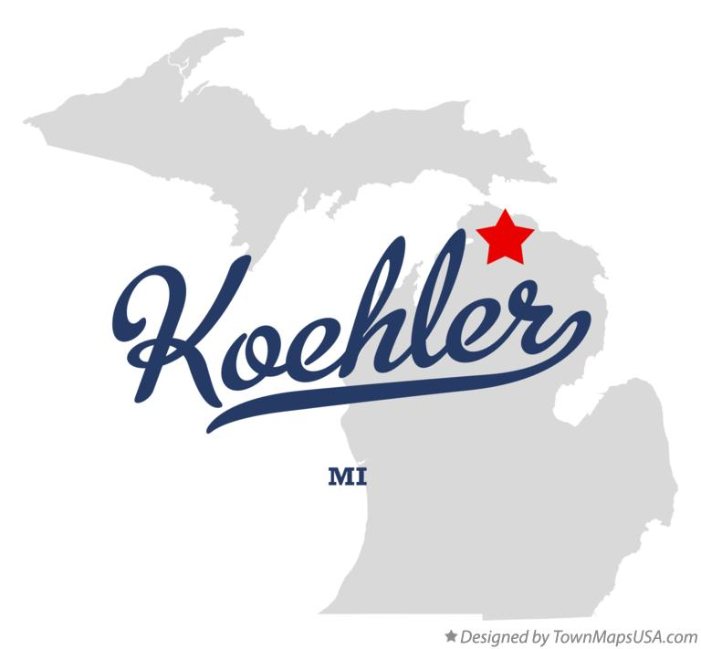 Map of Koehler Michigan MI
