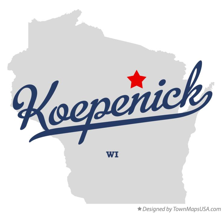 Map of Koepenick Wisconsin WI