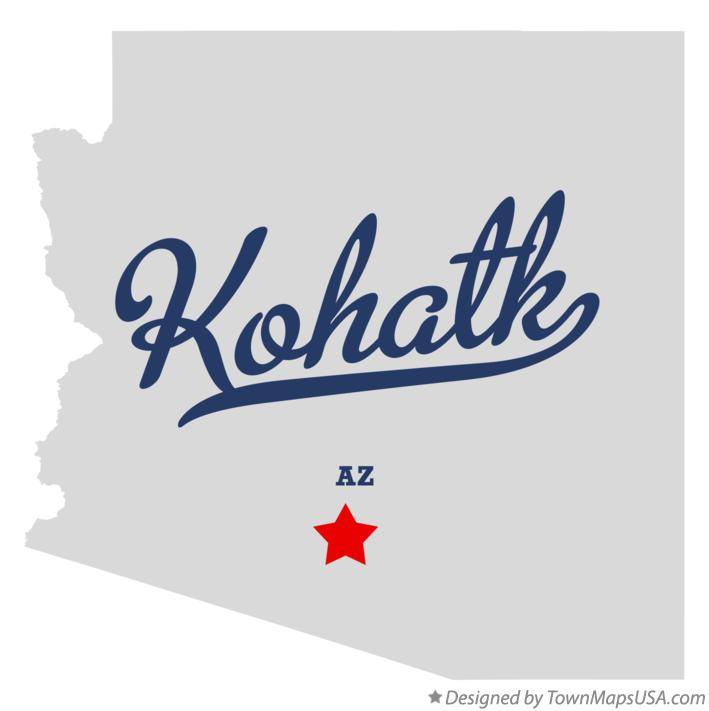 Map of Kohatk Arizona AZ