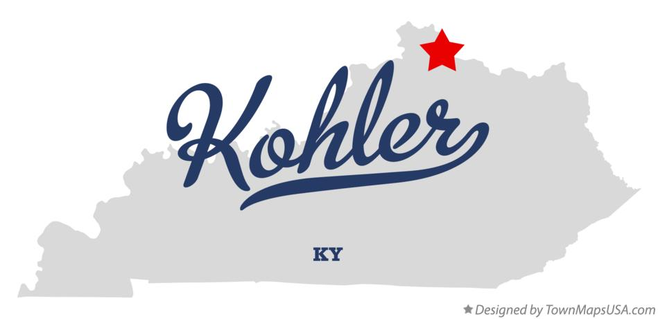 Map of Kohler Kentucky KY
