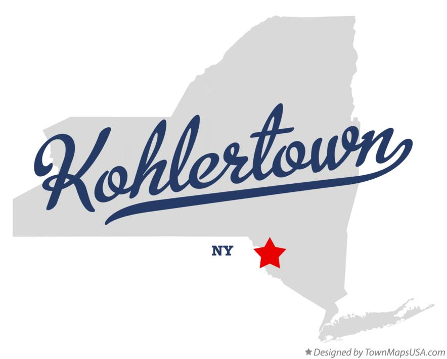 Map of Kohlertown New York NY