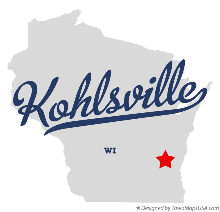 Map of Kohlsville Wisconsin WI