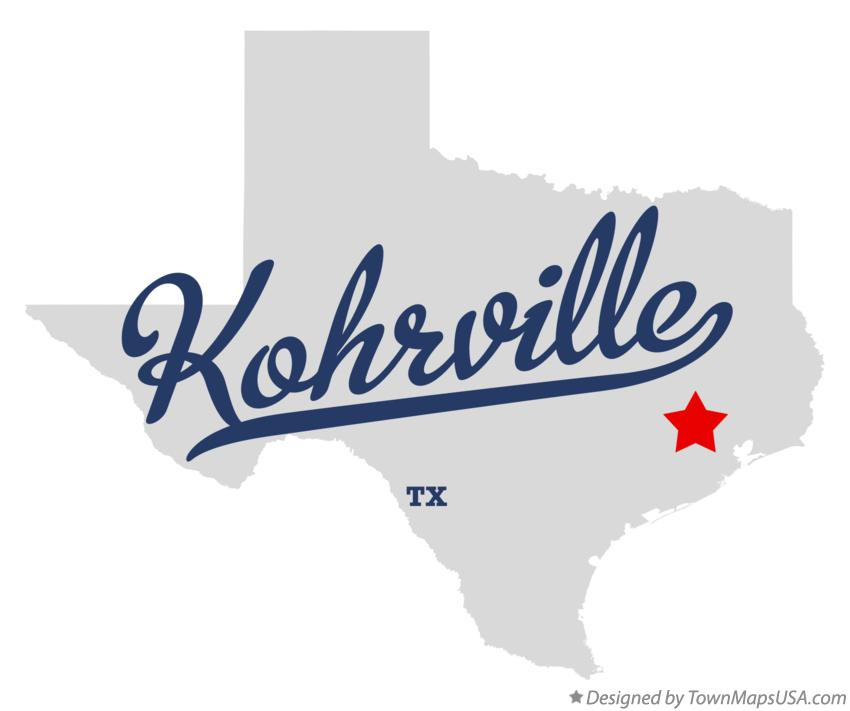 Map of Kohrville Texas TX