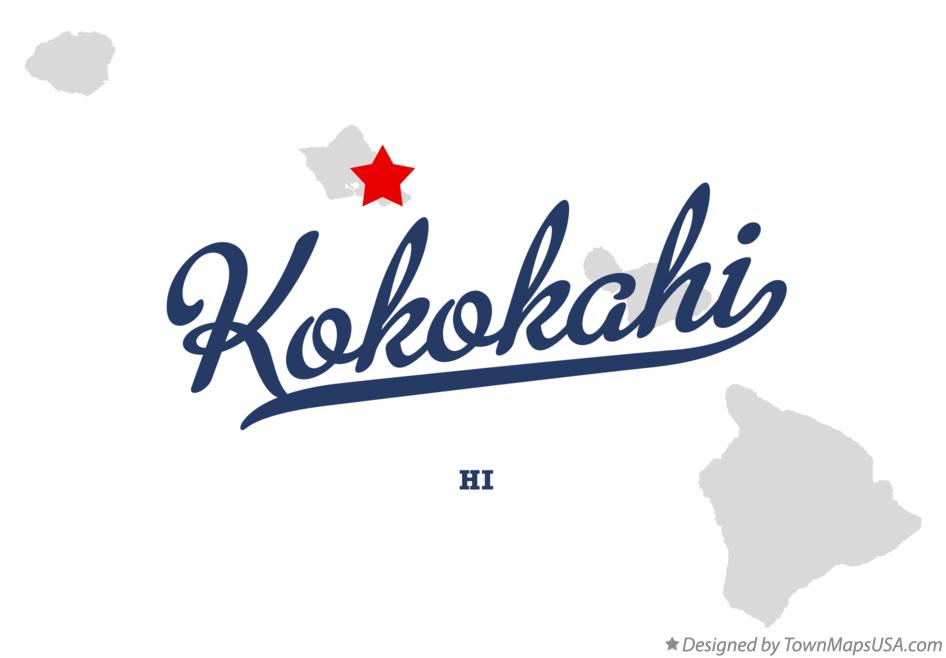 Map of Kokokahi Hawaii HI
