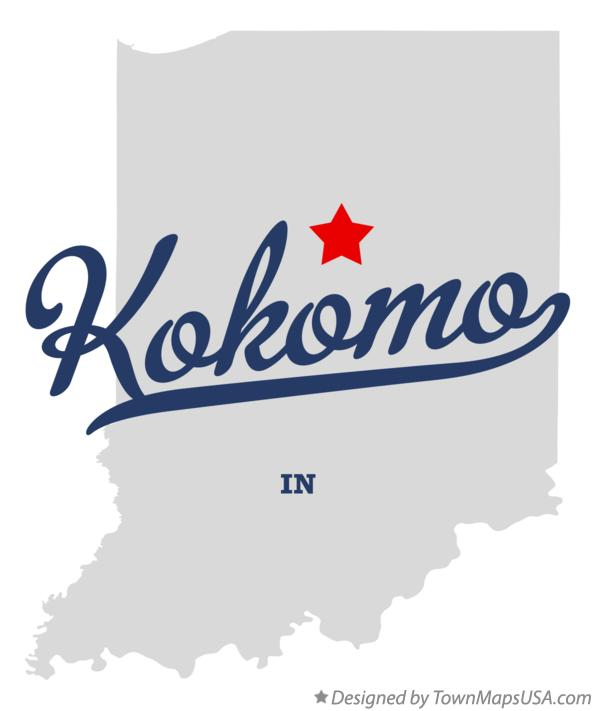Map of Kokomo Indiana IN