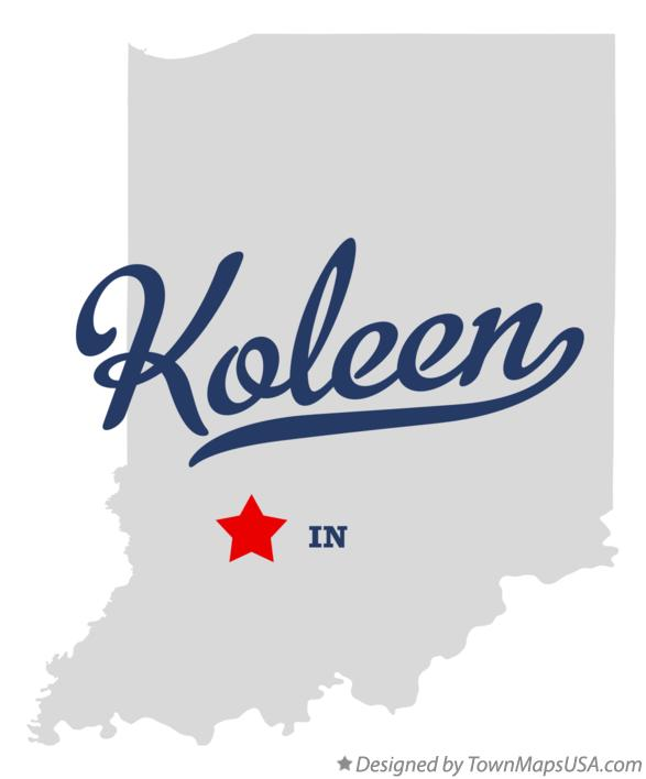 Map of Koleen Indiana IN