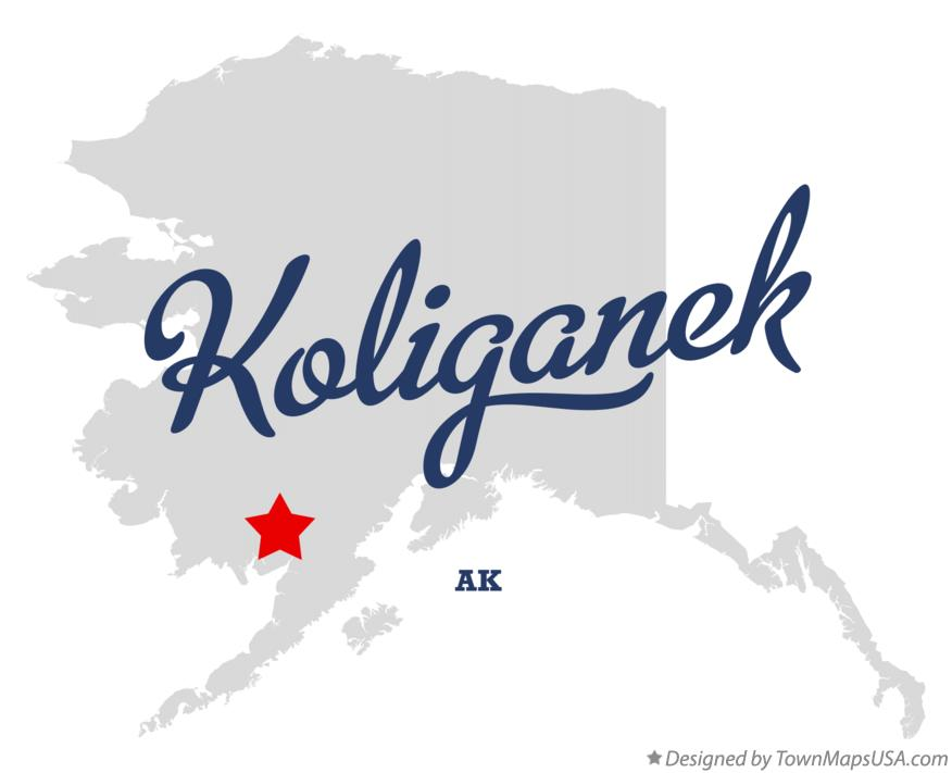 Map of Koliganek Alaska AK