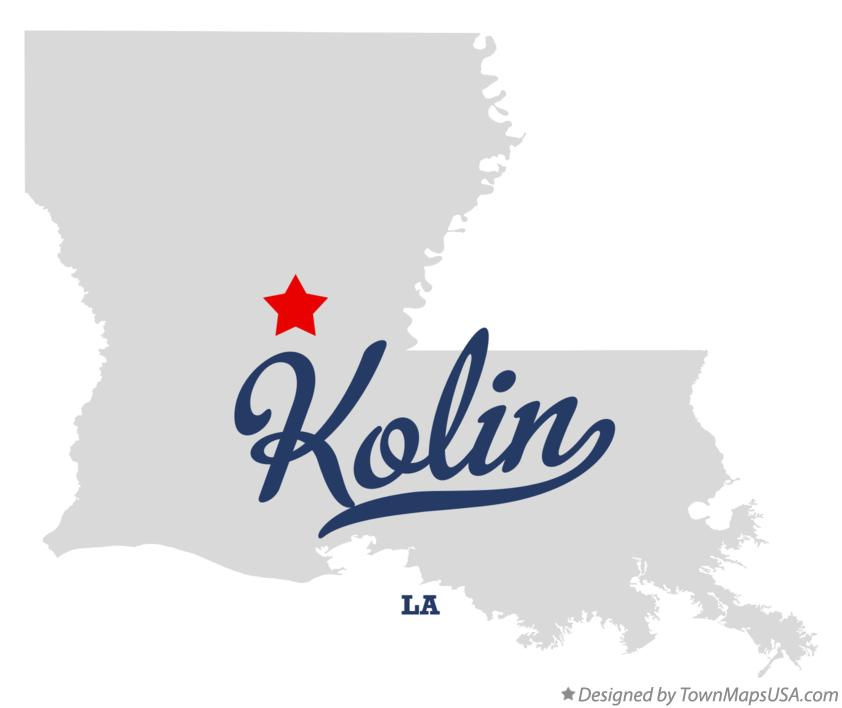 Map of Kolin Louisiana LA
