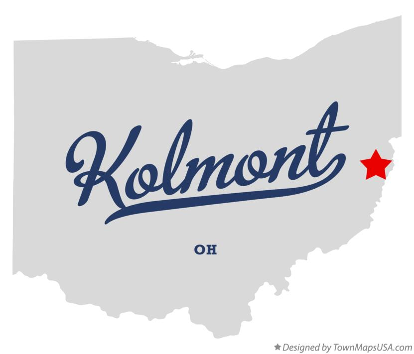 Map of Kolmont Ohio OH