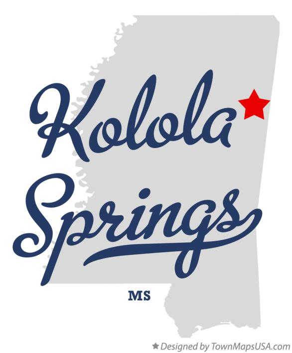 Map of Kolola Springs Mississippi MS