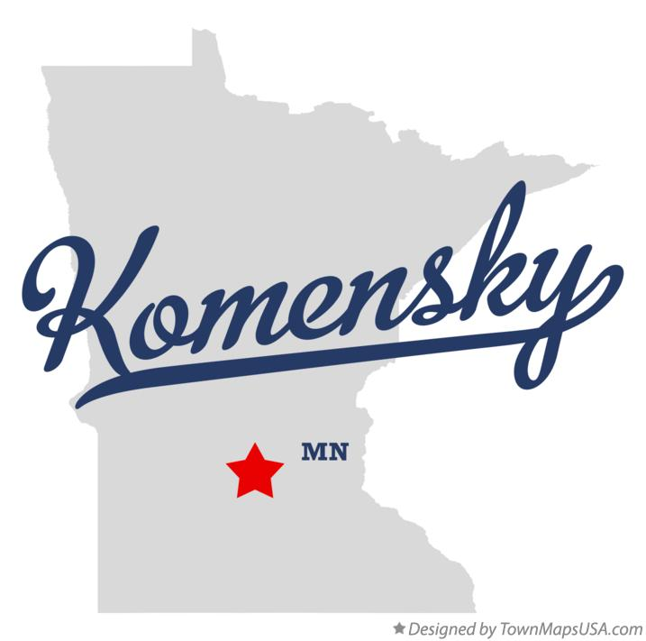 Map of Komensky Minnesota MN