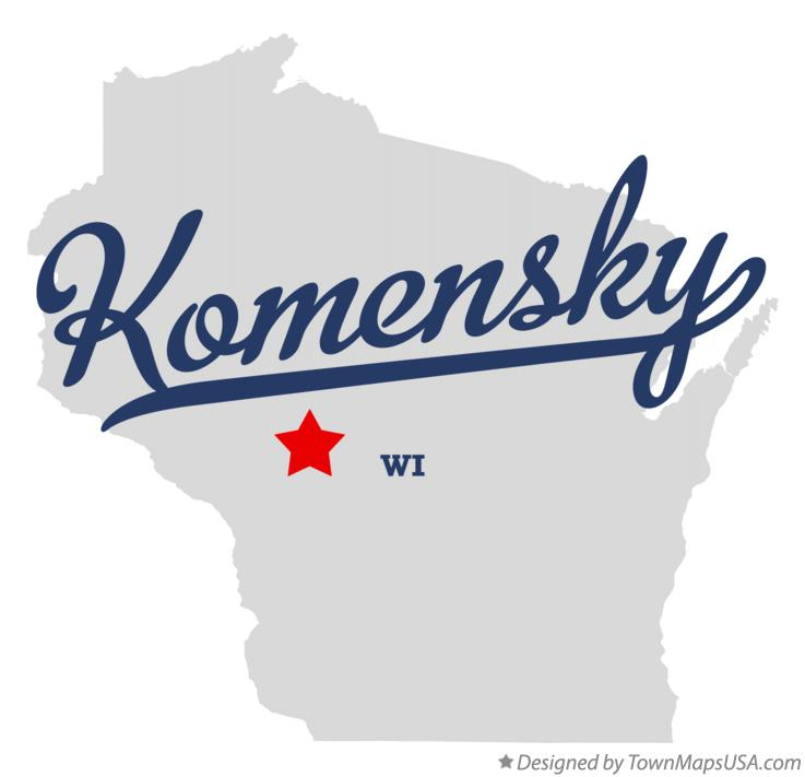 Map of Komensky Wisconsin WI