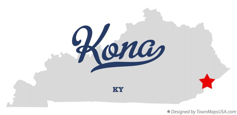 Map of Kona Kentucky KY