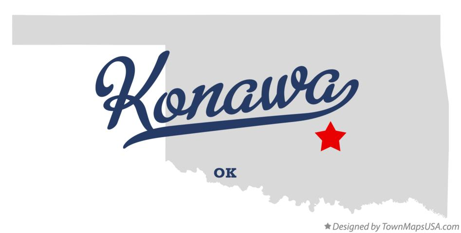 Map of Konawa Oklahoma OK