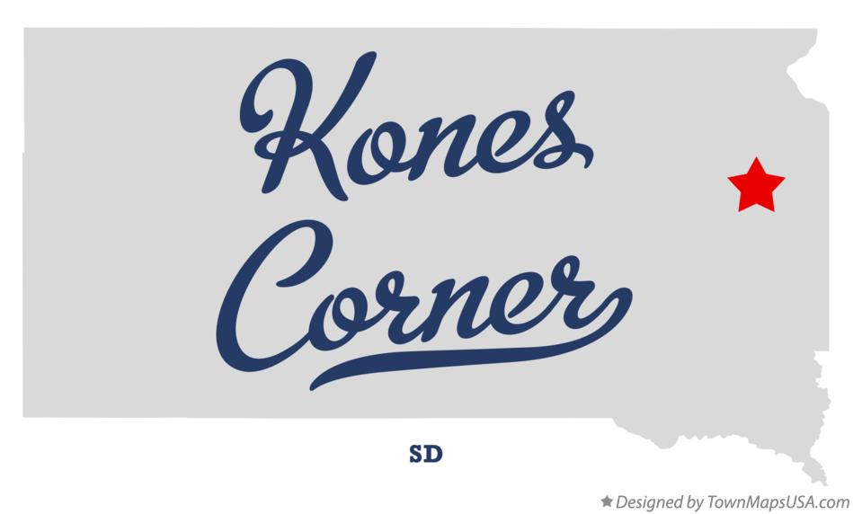 Map of Kones Corner South Dakota SD