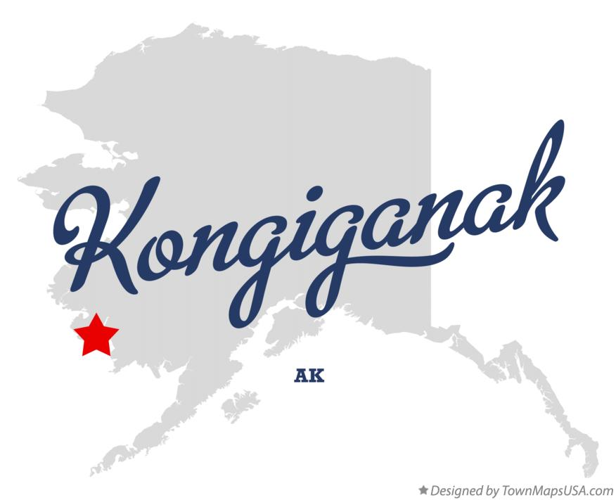 Map of Kongiganak Alaska AK