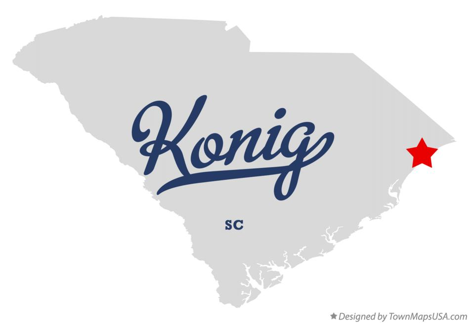 Map of Konig South Carolina SC