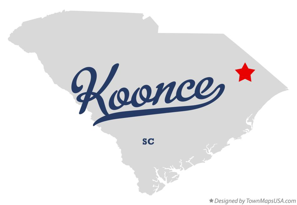 Map of Koonce South Carolina SC