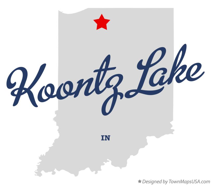 Map of Koontz Lake Indiana IN