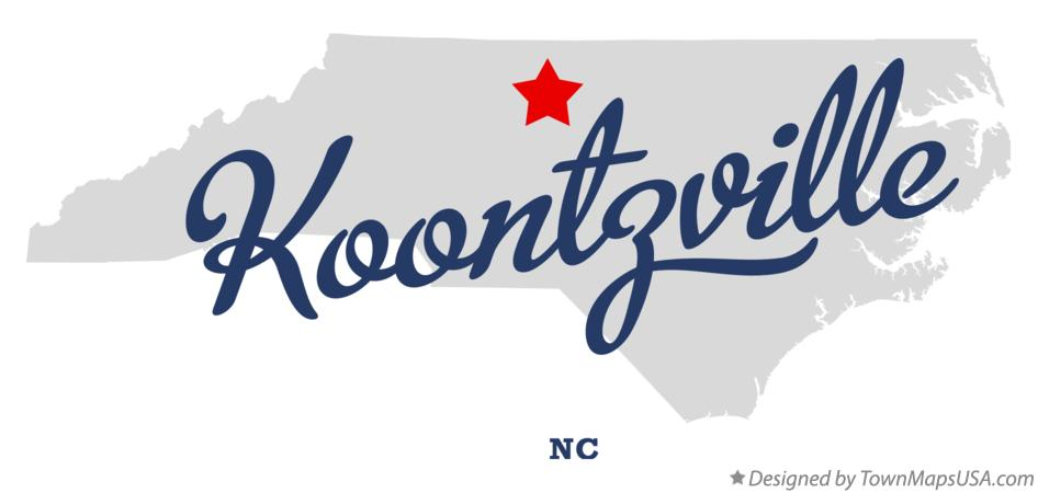 Map of Koontzville North Carolina NC