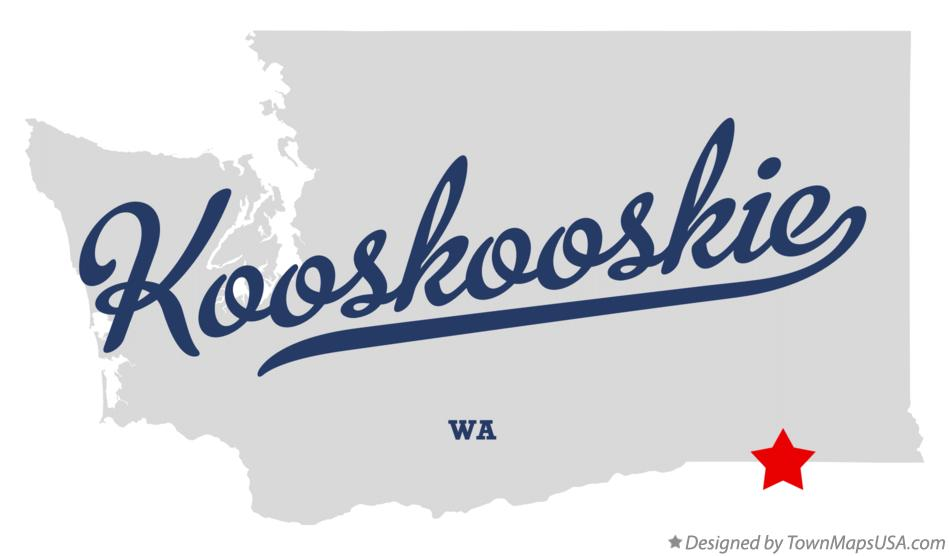 Map of Kooskooskie Washington WA