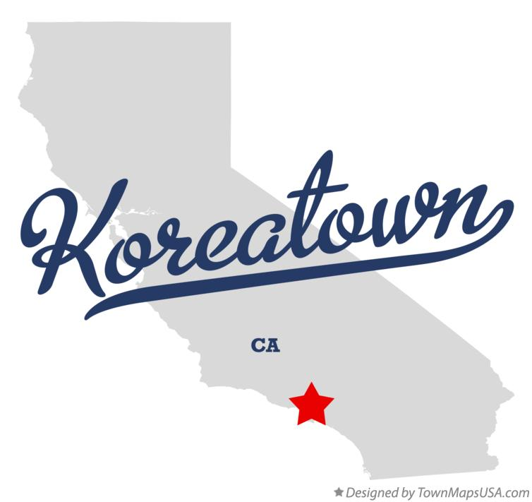 Map of Koreatown California CA