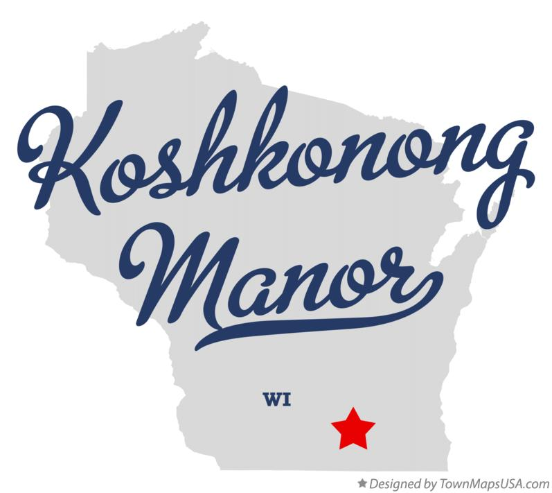 Map of Koshkonong Manor Wisconsin WI