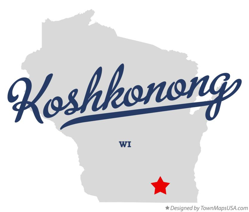 Map of Koshkonong Wisconsin WI