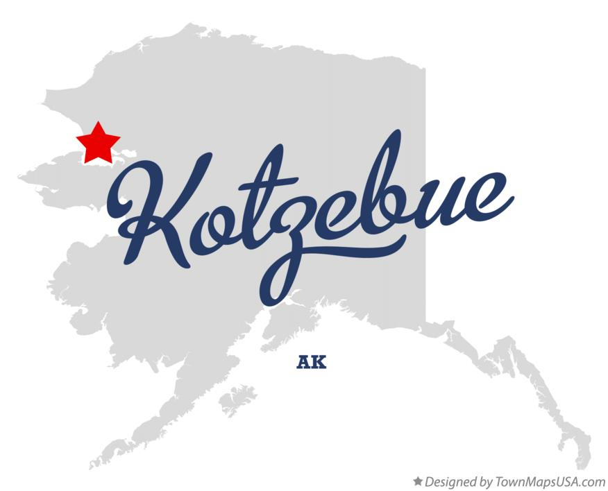 Map of Kotzebue Alaska AK