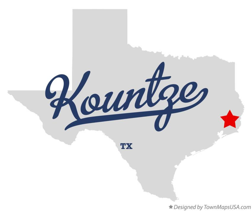 Map of Kountze Texas TX