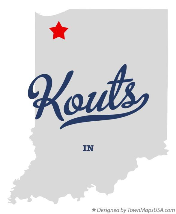Map of Kouts Indiana IN