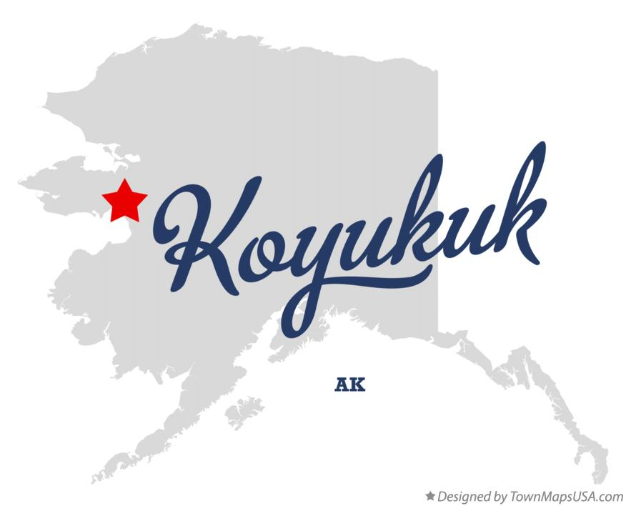 Map of Koyukuk Alaska AK