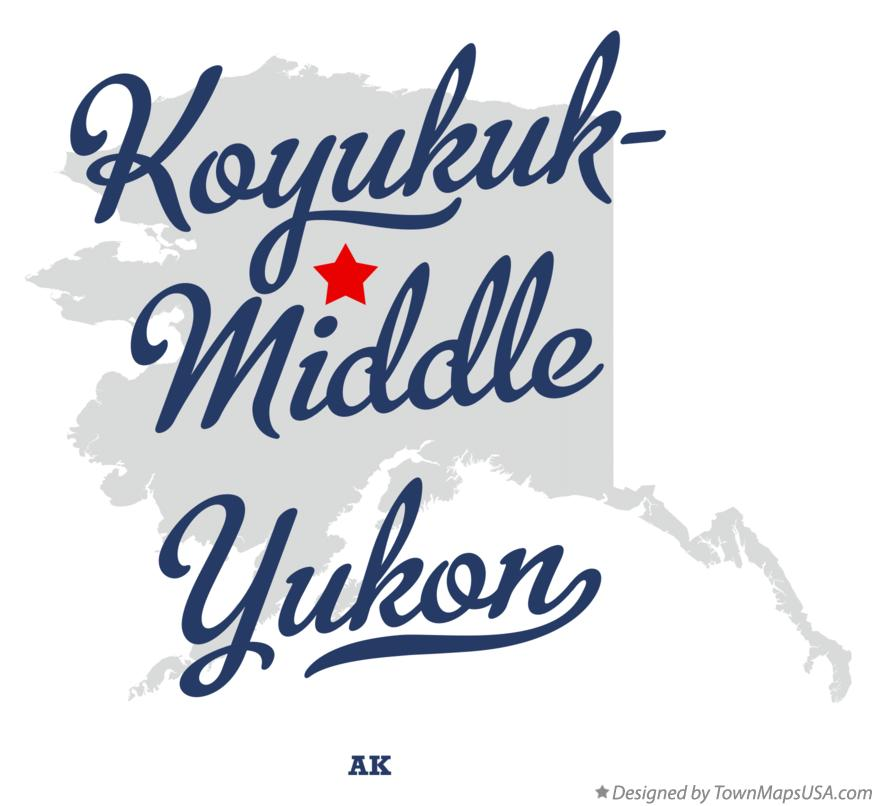 Map of Koyukuk-Middle Yukon Alaska AK