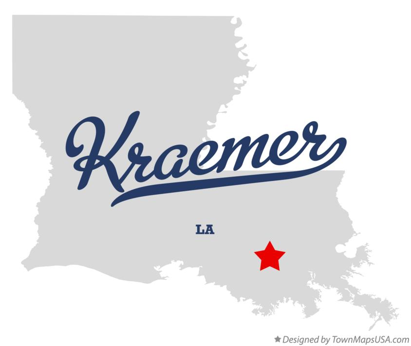 Map of Kraemer Louisiana LA
