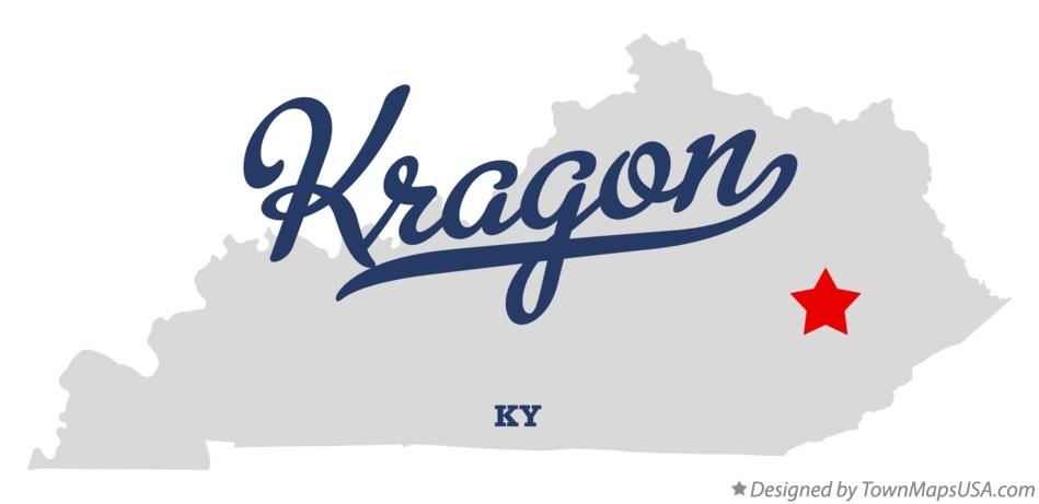 Map of Kragon Kentucky KY