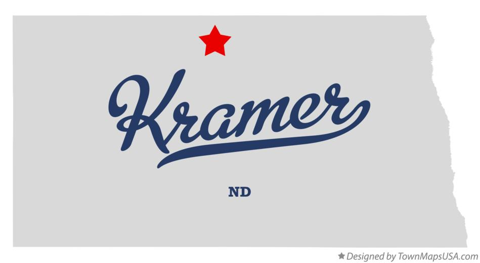 Map of Kramer North Dakota ND