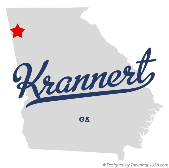 Map of Krannert Georgia GA
