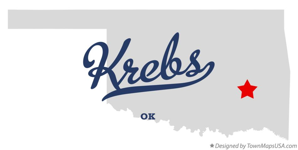Map of Krebs Oklahoma OK