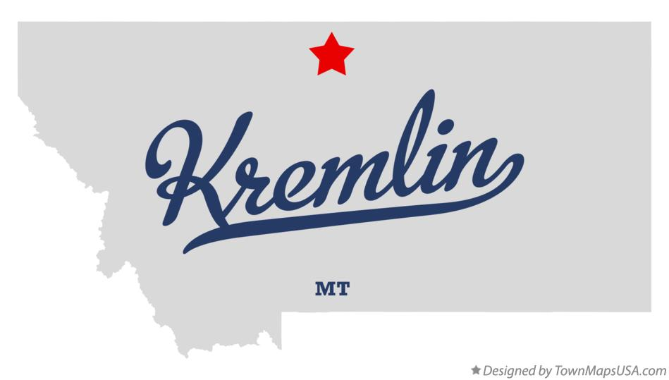 Map of Kremlin Montana MT