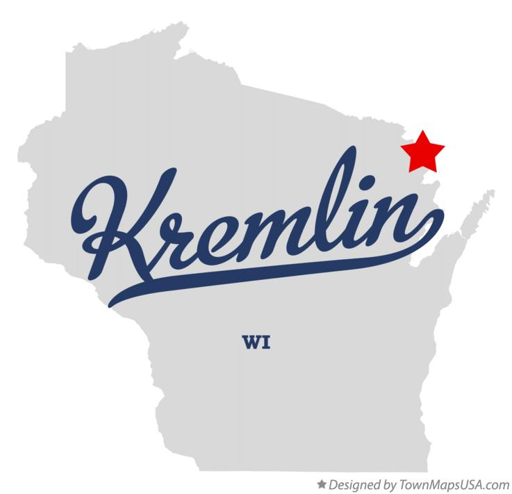 Map of Kremlin Wisconsin WI