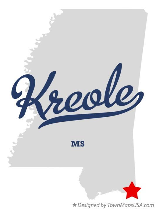 Map of Kreole Mississippi MS