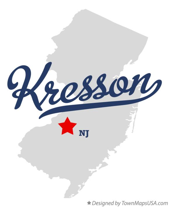 Map of Kresson New Jersey NJ