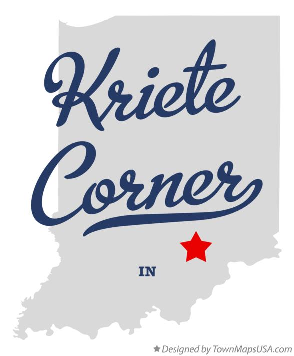 Map of Kriete Corner Indiana IN