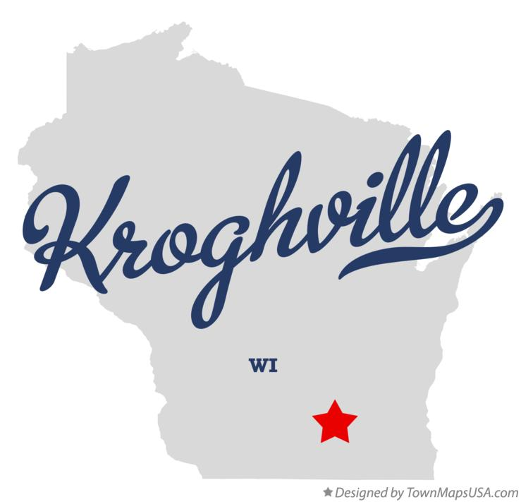 Map of Kroghville Wisconsin WI