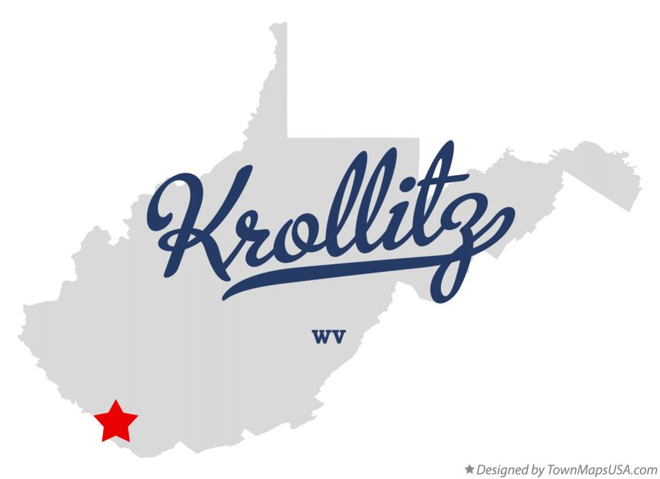 Map of Krollitz West Virginia WV