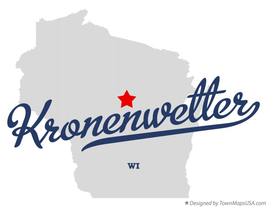 Map of Kronenwetter Wisconsin WI