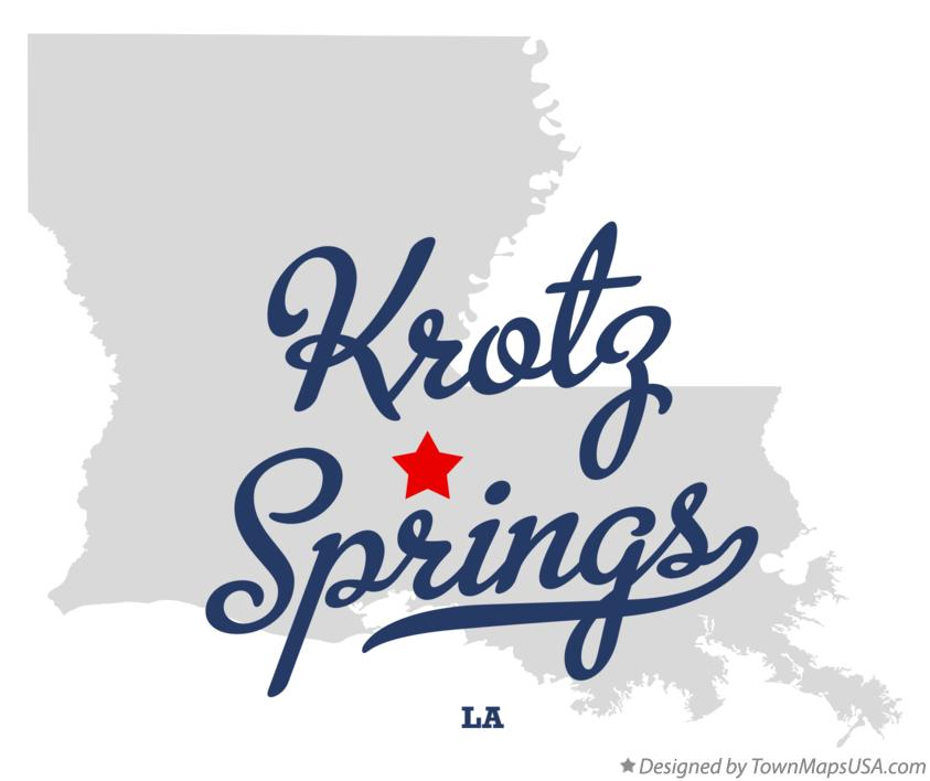 Map of Krotz Springs Louisiana LA