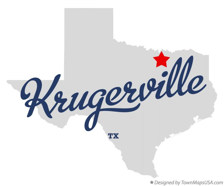 Map of Krugerville Texas TX