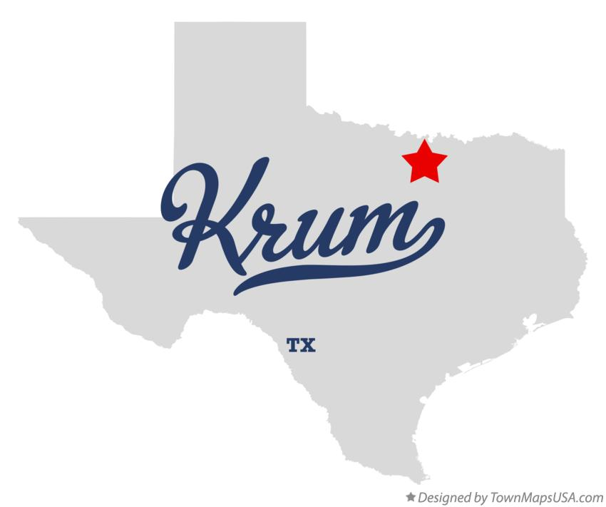 Map of Krum Texas TX