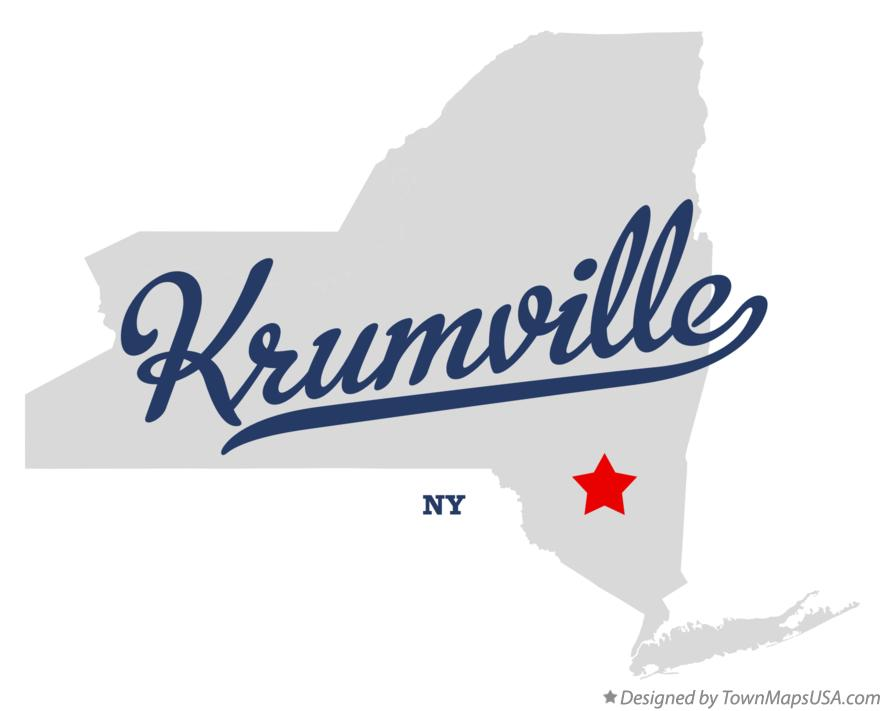 Map of Krumville New York NY